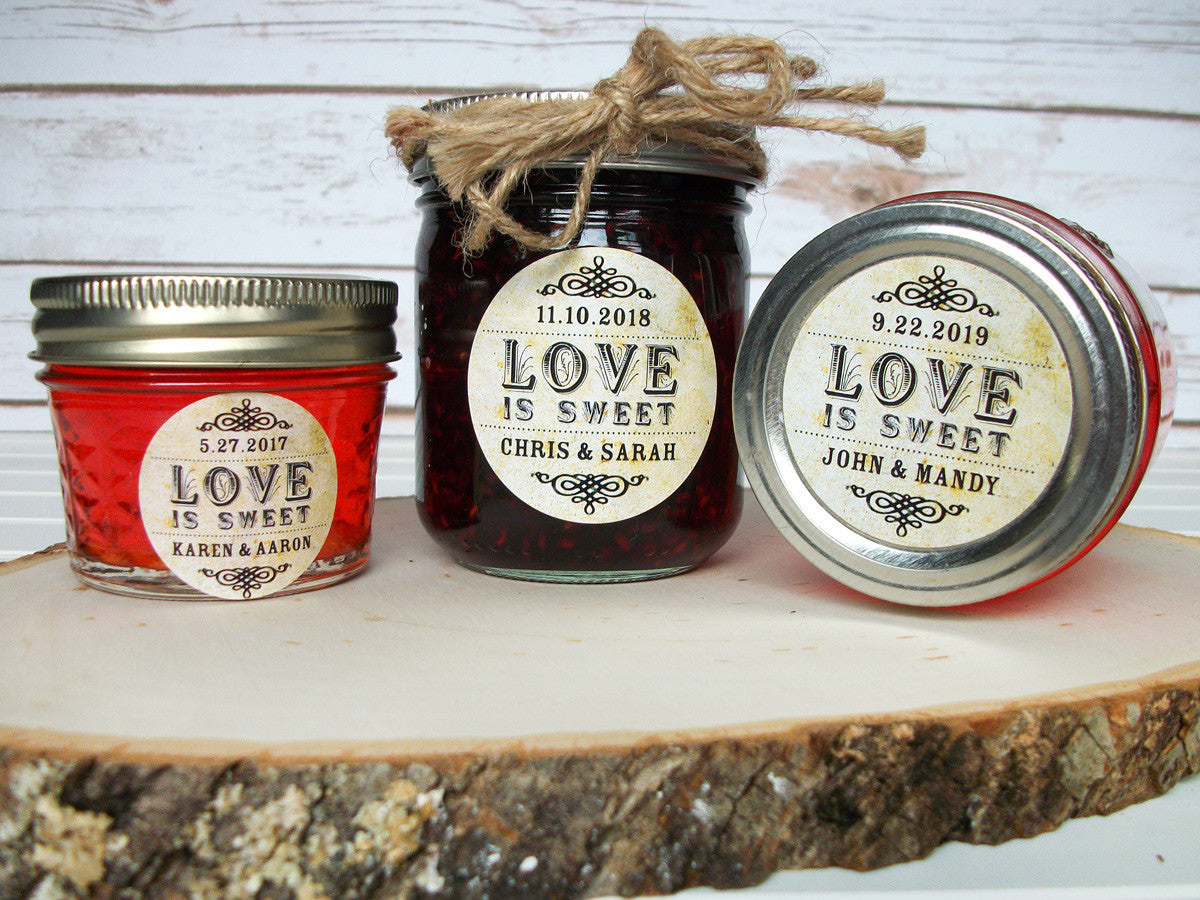 Love is Sweet Wedding Canning Label | CanningCrafts.com
