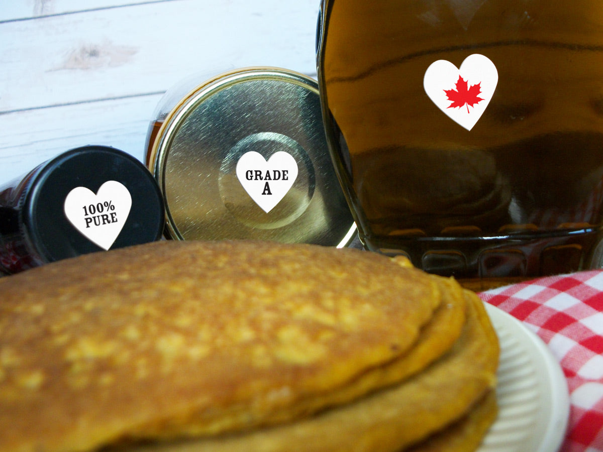 Heart Maple Syrup Grade Labels | CanningCrafts.com
