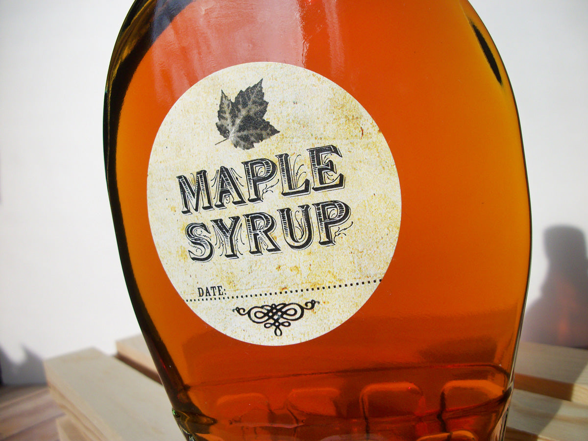 Vintage Maple Syrup Bottle Labels