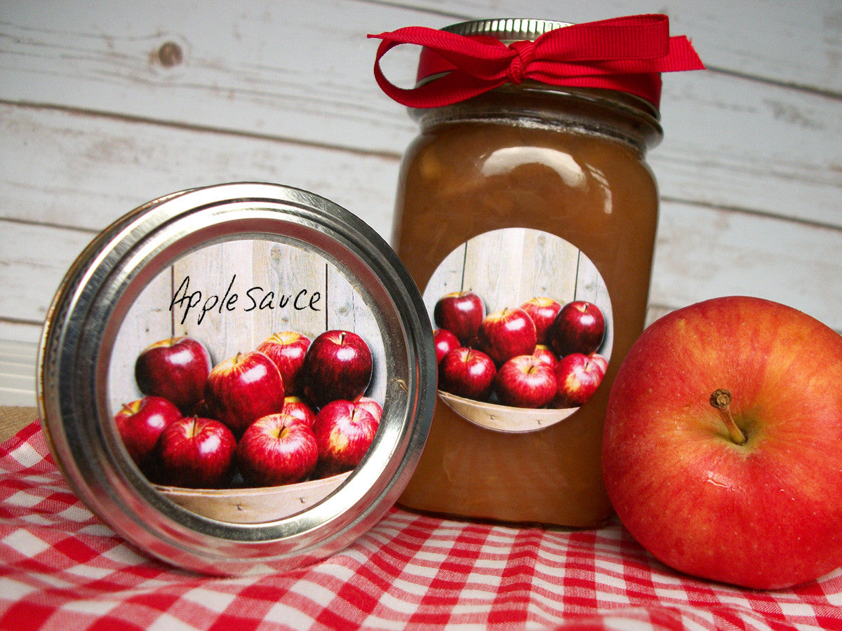 Market Fresh Applesauce Canning Labels | CanningCrafts.com