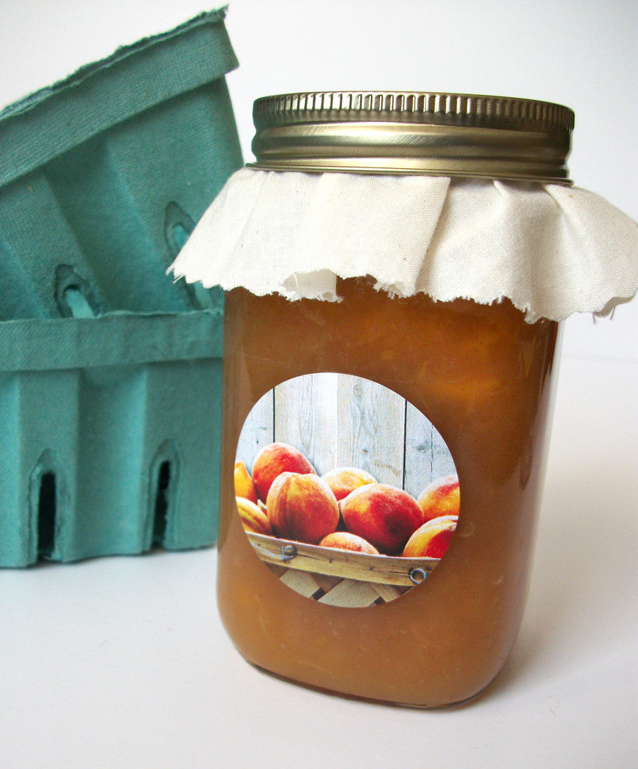 Peach Jam & Jelly Jar Labels | CanningCrafts.com