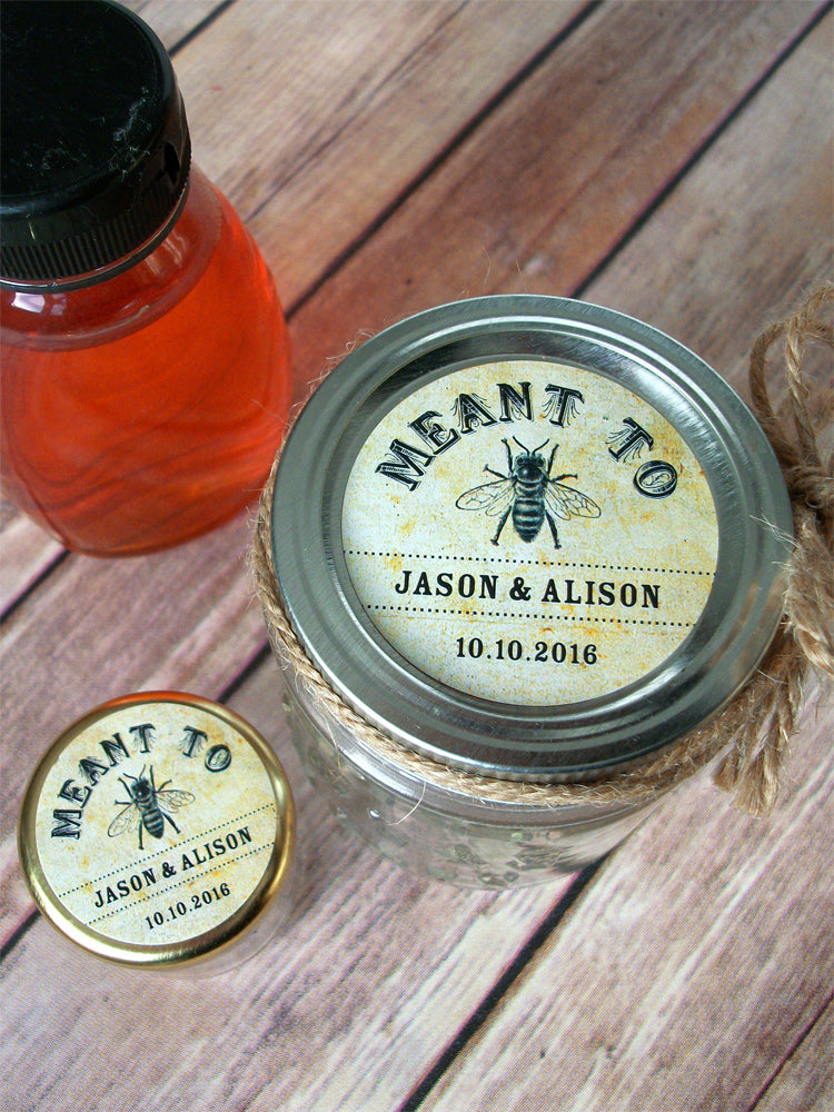 Vintage Meant to Bee Wedding Canning Favor Labels | CanningCrafts.com