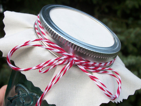 White Muslin Jam Jar Covers | CanningCrafts.com