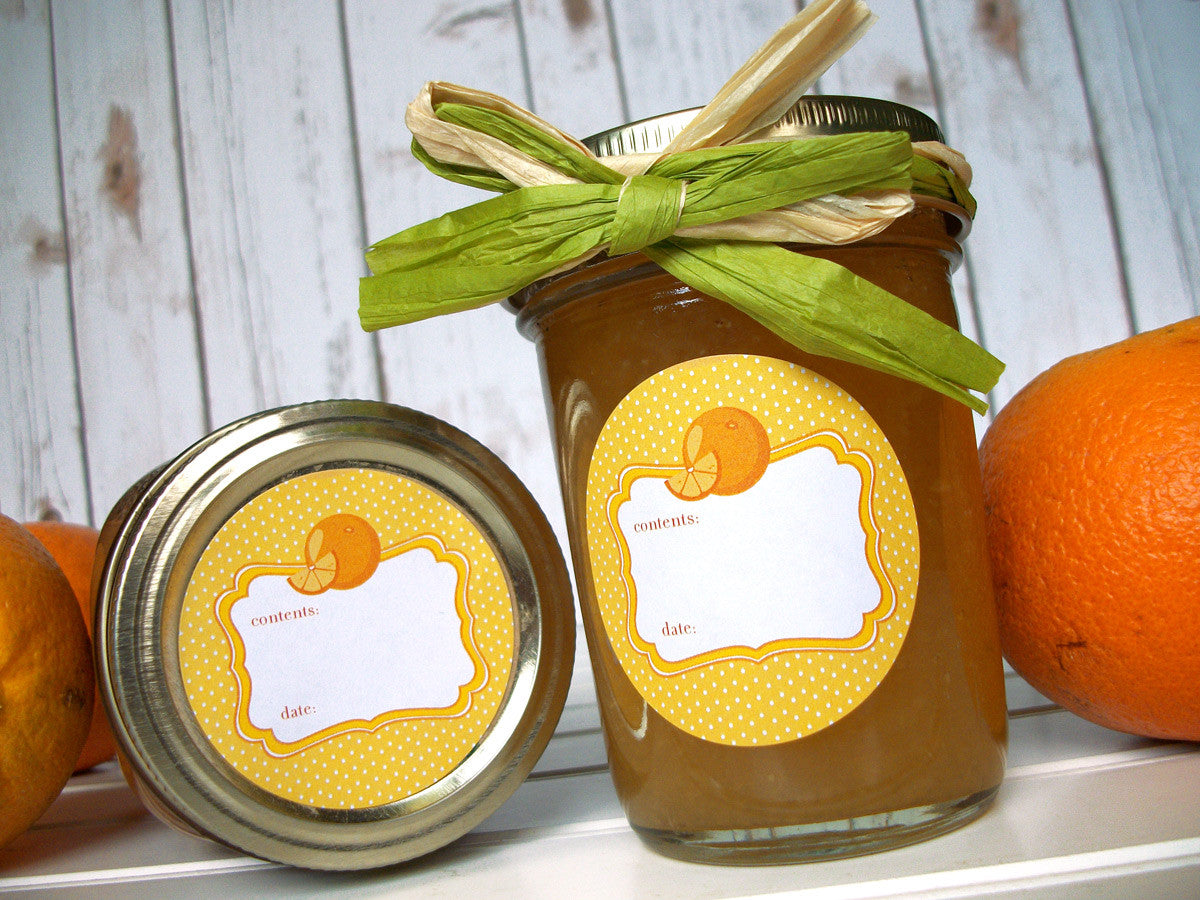 Orange Marmalade, jam, & jelly Canning Labels | CanningCrafts.com