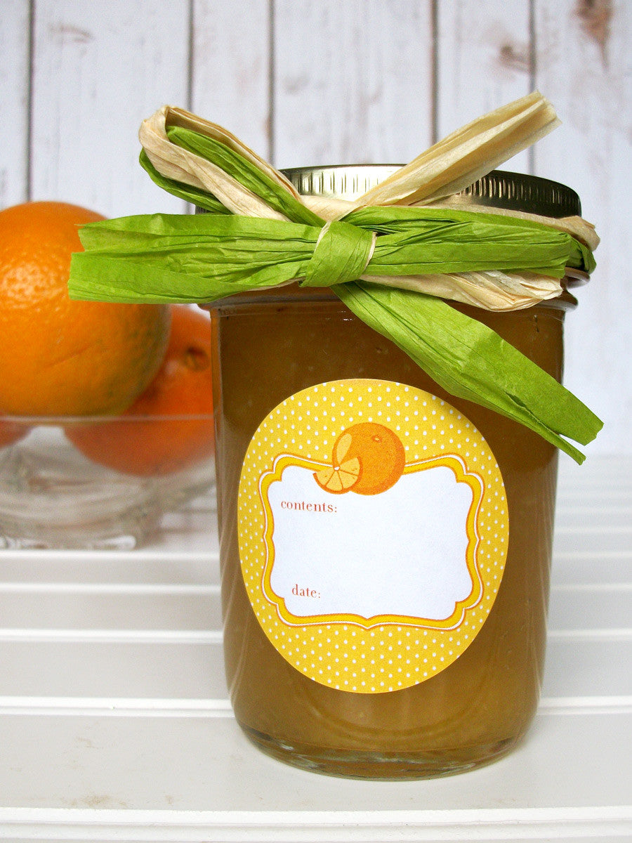 Orange Marmalade Jelly & Preserves Canning Jar Labels | CanningCrafts.com