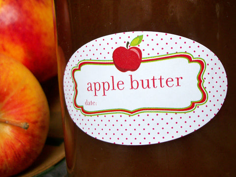 Oval Apple Butter canning labels | CanningCrafts.com