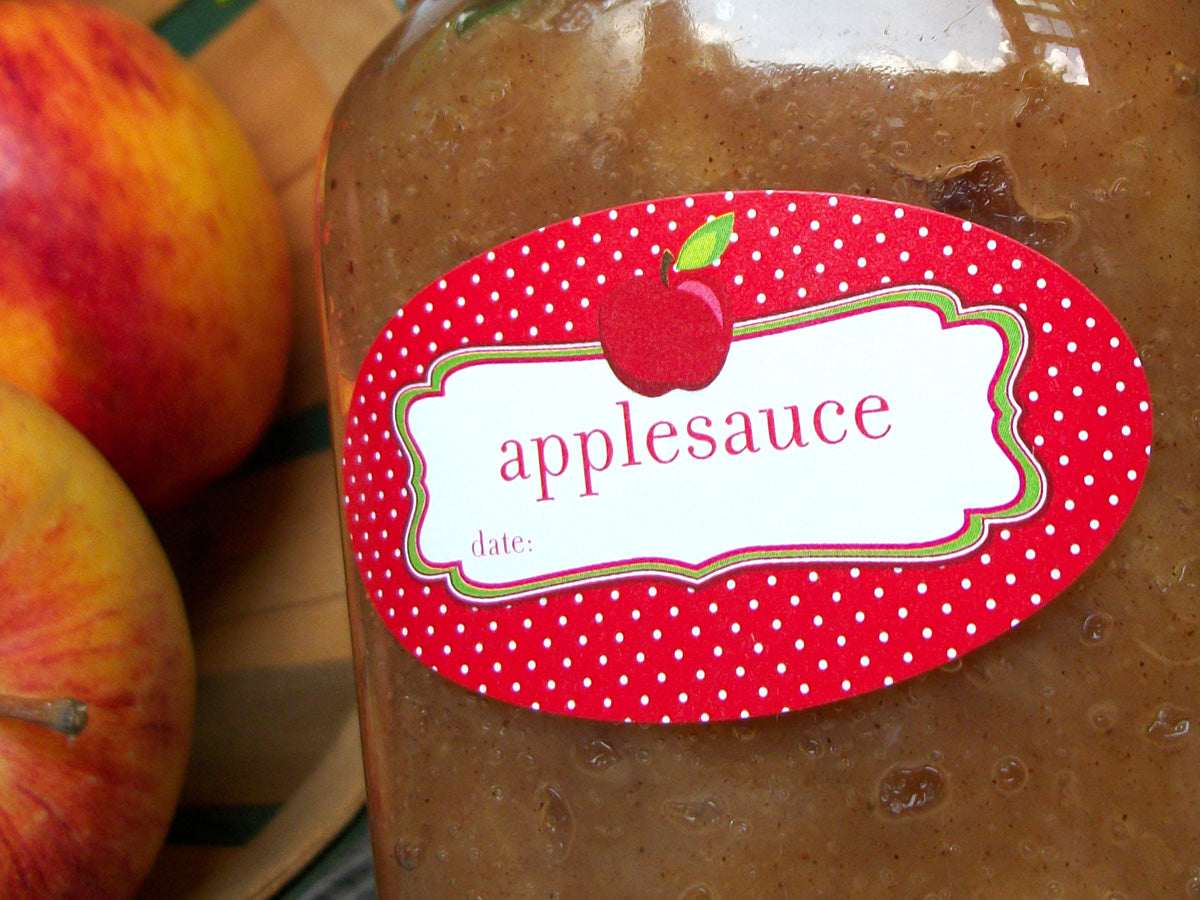 oval applesauce canning label | CanningCrafts.com