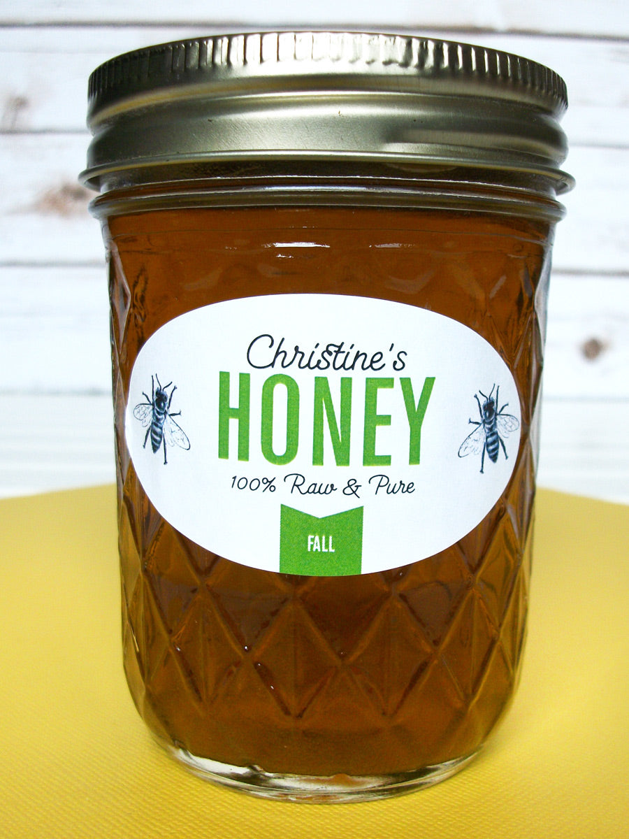Custom Colorful Oval Honey Jar Labels