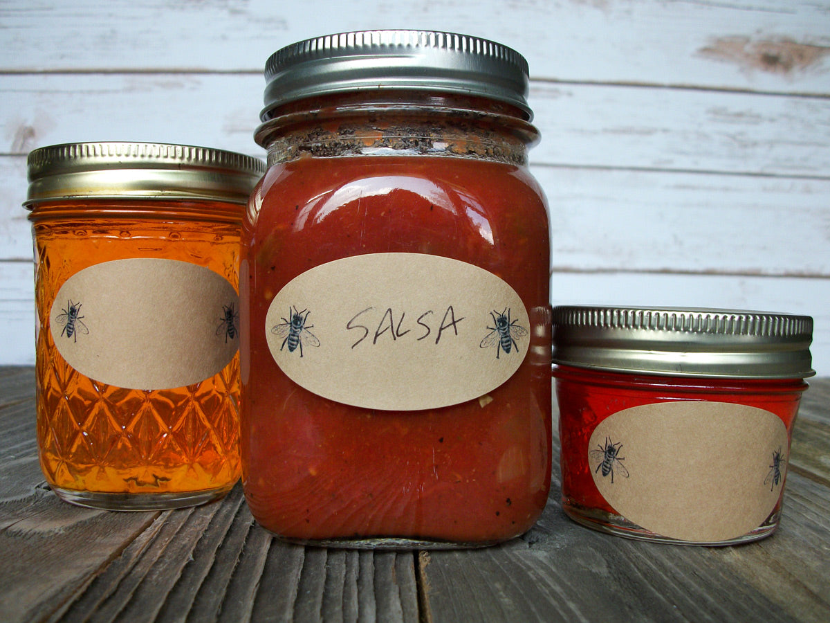 Oval Honey Bee Canning Jar Label | CanningCrafts.com