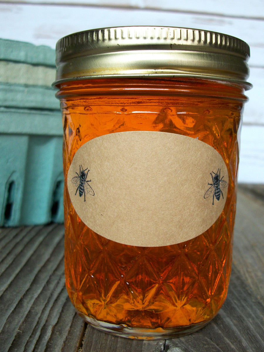Oval canning jar labels for quilted Ball jam jars | CanningCrafts.com