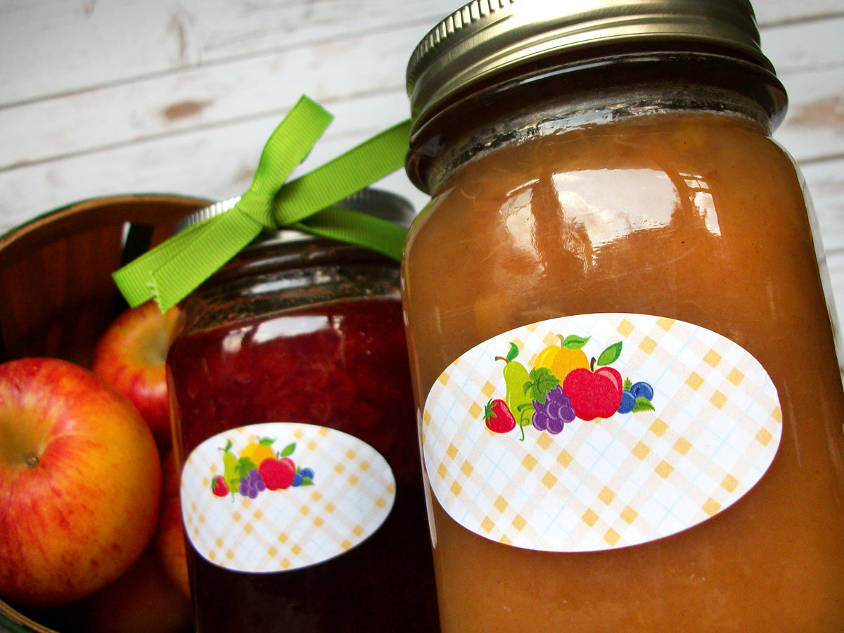 oval fruit canning jar labels | CanningCrafts.com