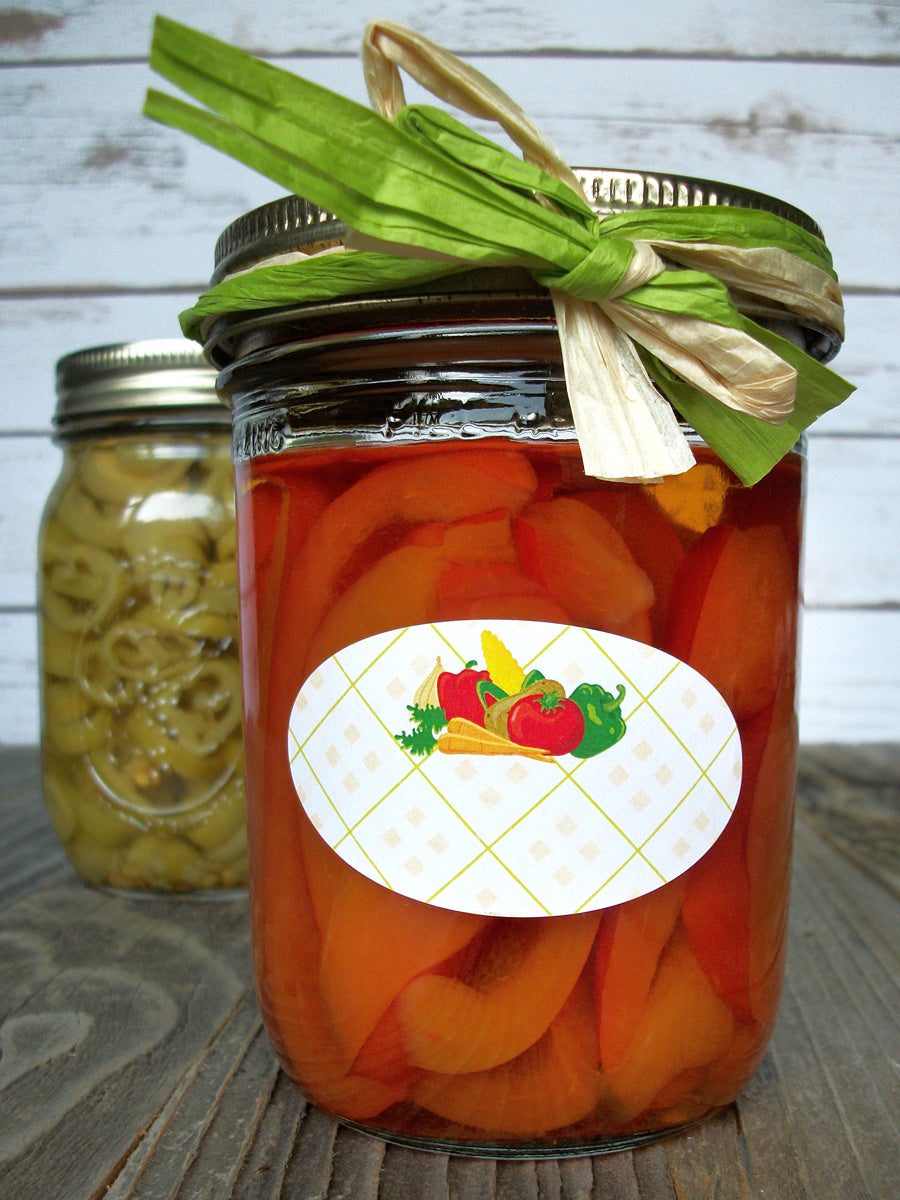 Oval Vegetable Canning Labels | CanningCrafts.com