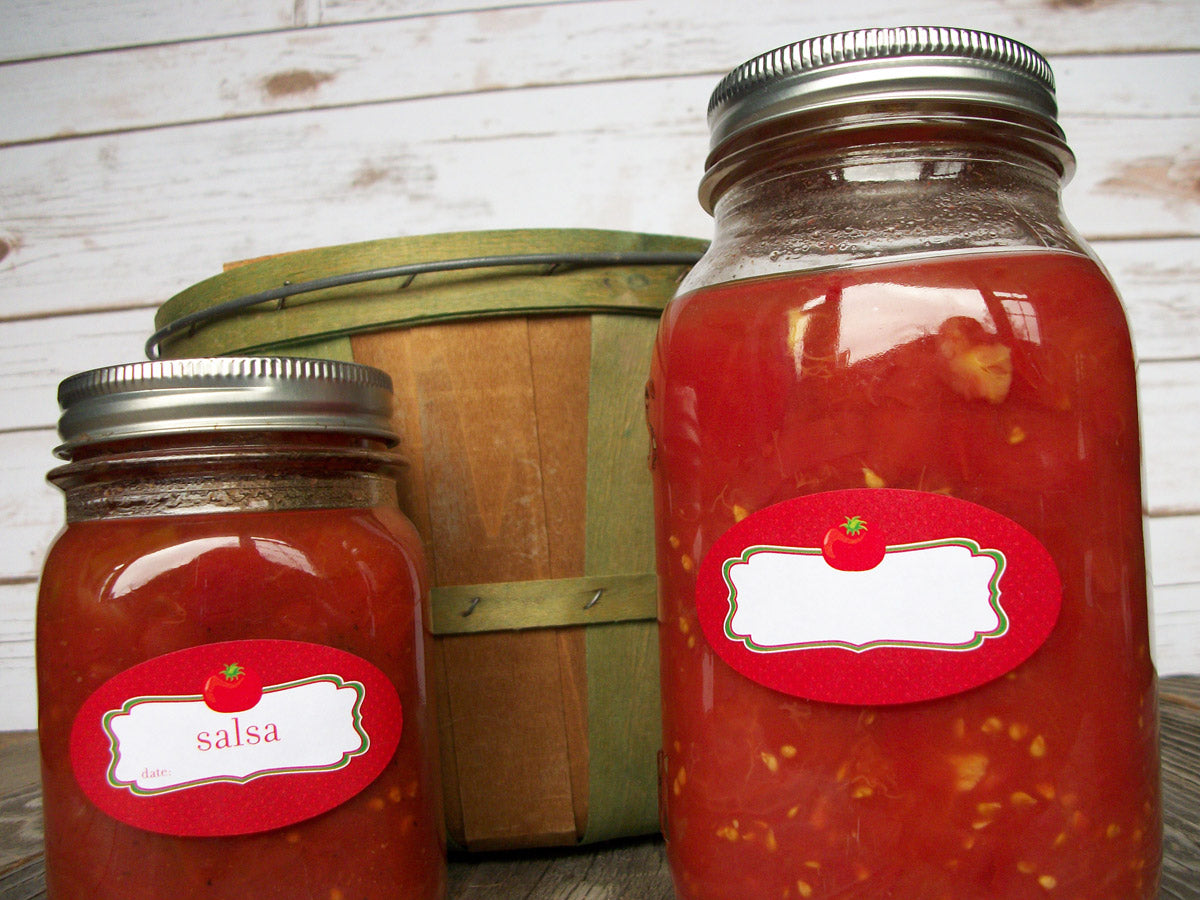tomato salsa canning jar labels | CanningCrafts.com