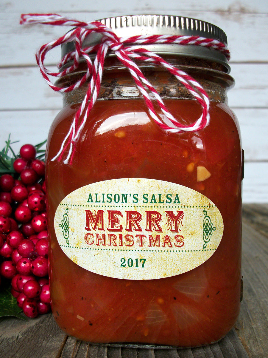 Custom Oval Christmas Canning Jar Labels | CanningCrafts.com