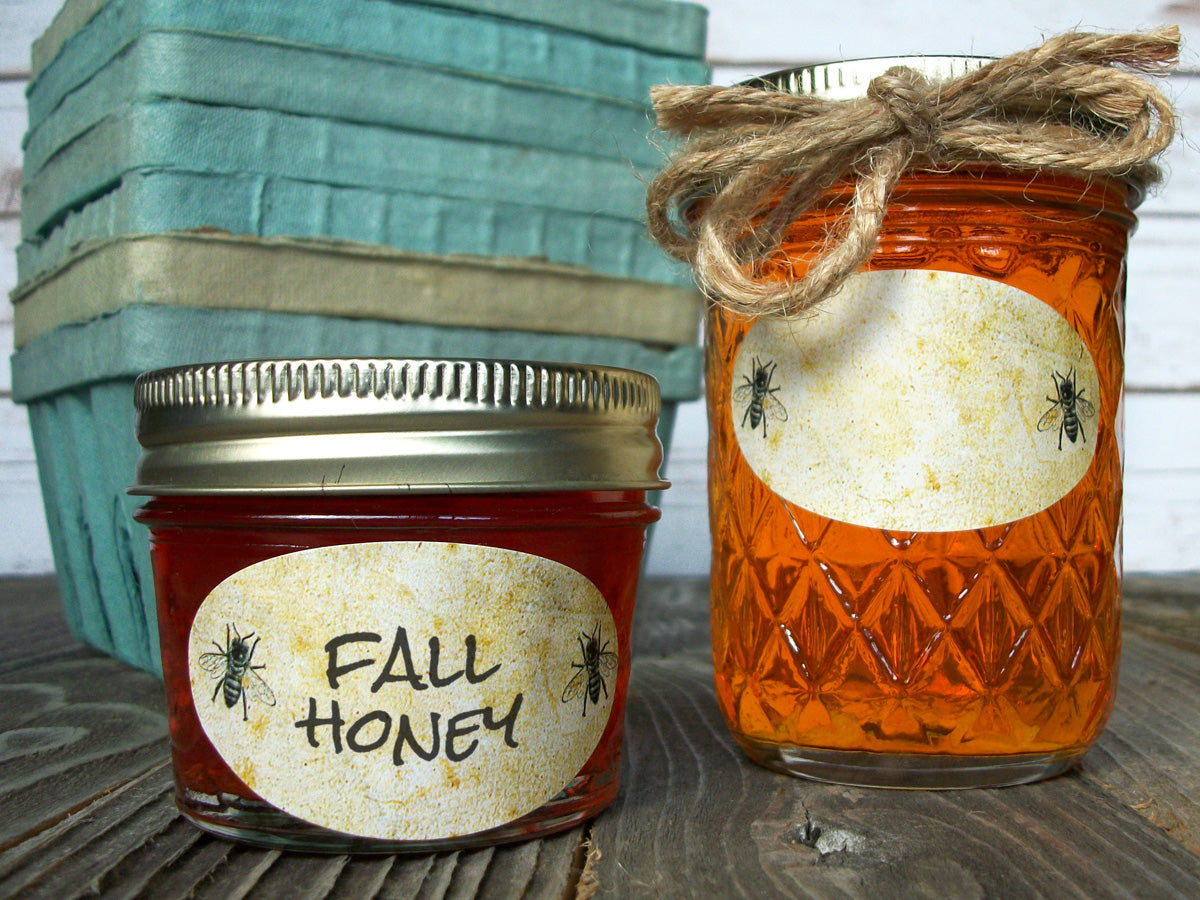 Oval Honey Bee Canning Jar Labels | CanningCrafts.com