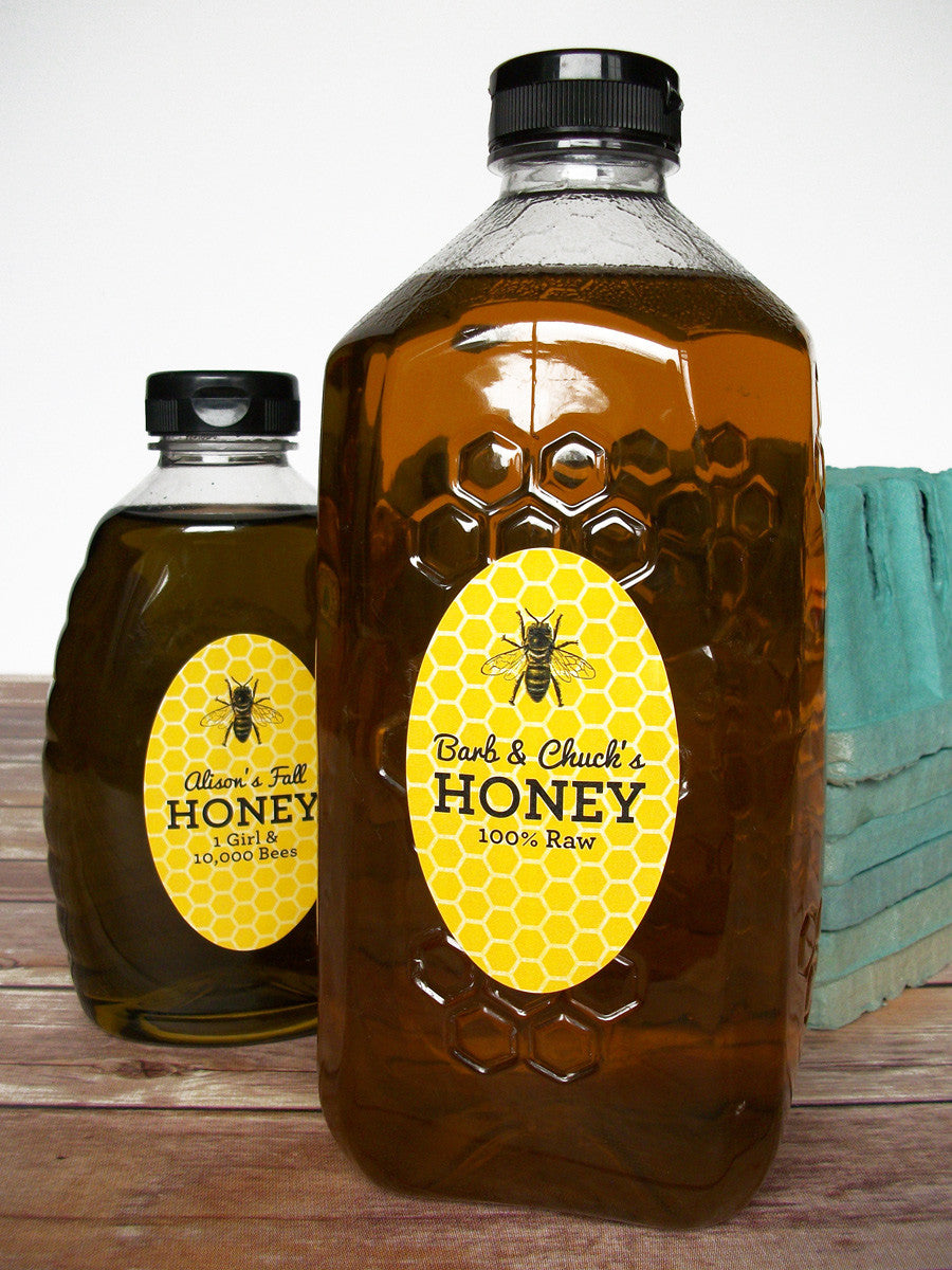 Custom oval honey bottle labels | CanningCrafts.com