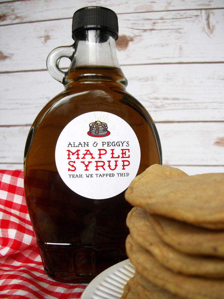 Custom Pancake Maple Syrup Bottle Labels | CanningCrafts.com