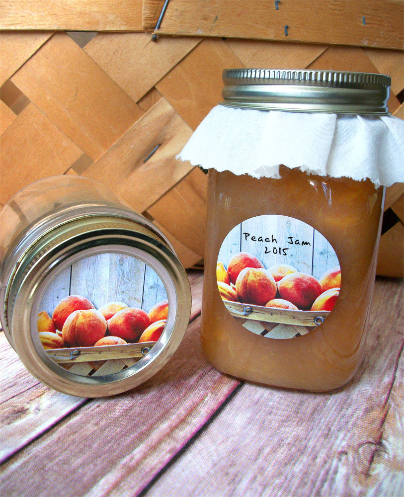 Peach Jam Canning Labels | CanningCrafts.com