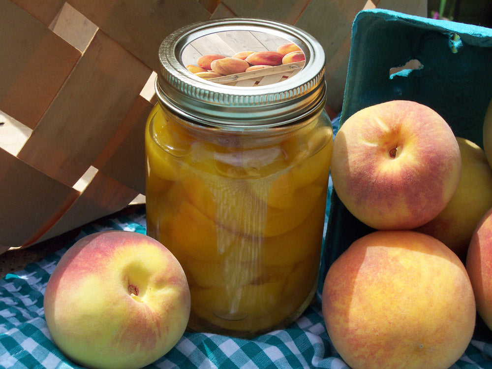 Peach Canning Jar Labels | CanningCrafts.com