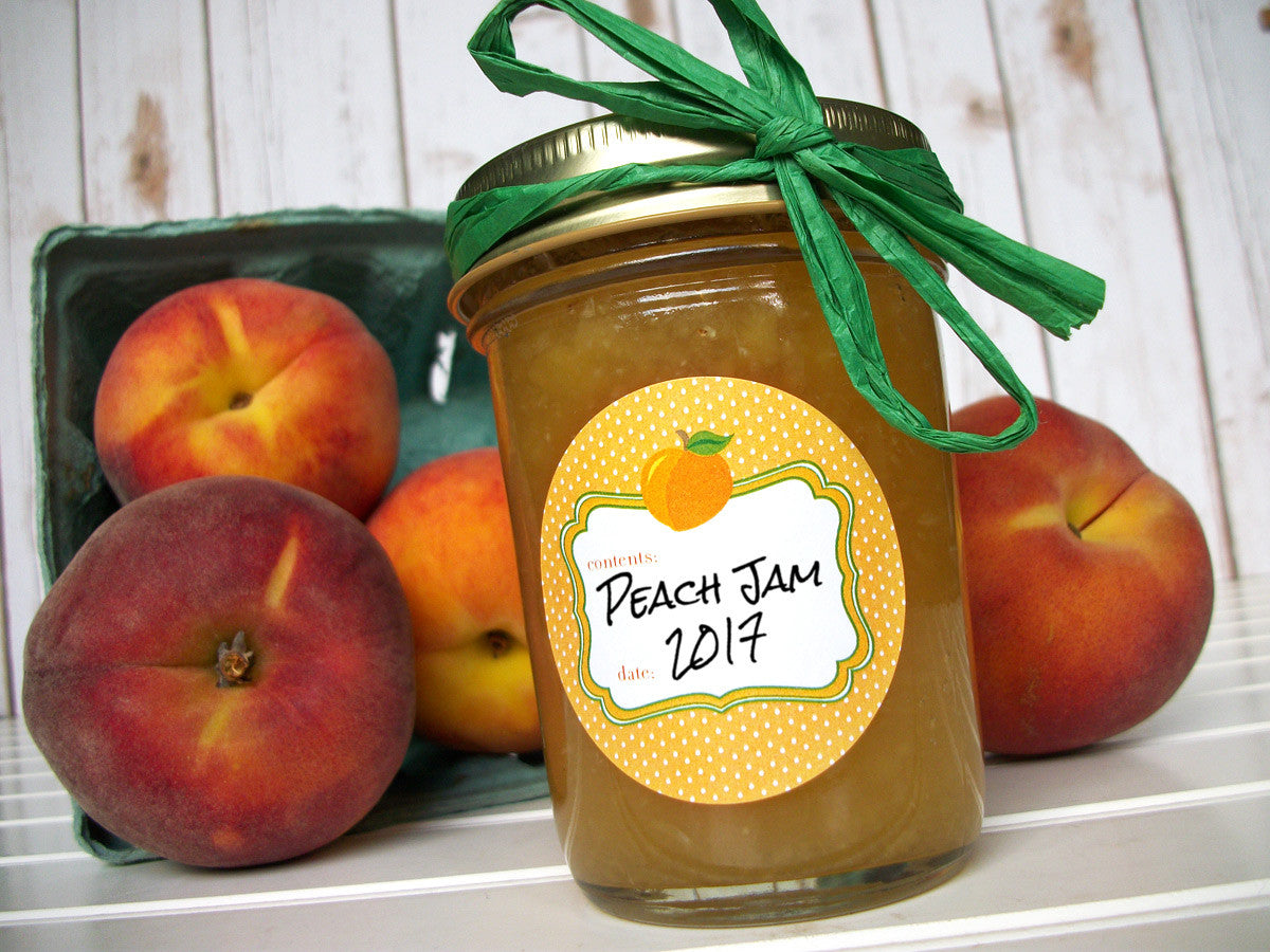 Apricot Peach Jam Canning Jar Labels | CanningCrafts.com