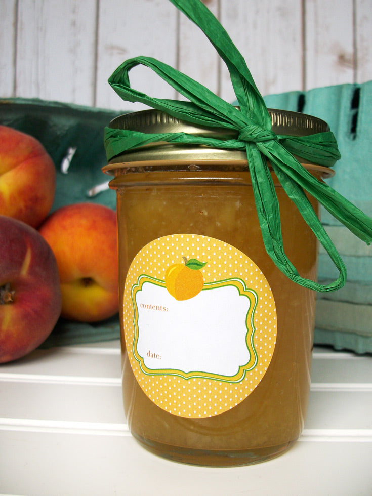 Apricot Peach Canning Jar Labels | CanningCrafts.com