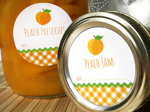 Peach Jam & Preserves Canning Labels | CanningCrafts.com