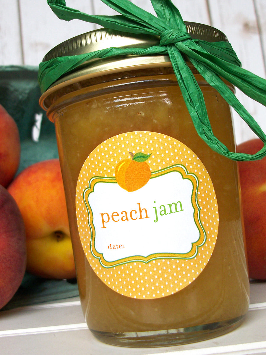 Cute Peach Jam Canning Labels | CanningCrafts.com