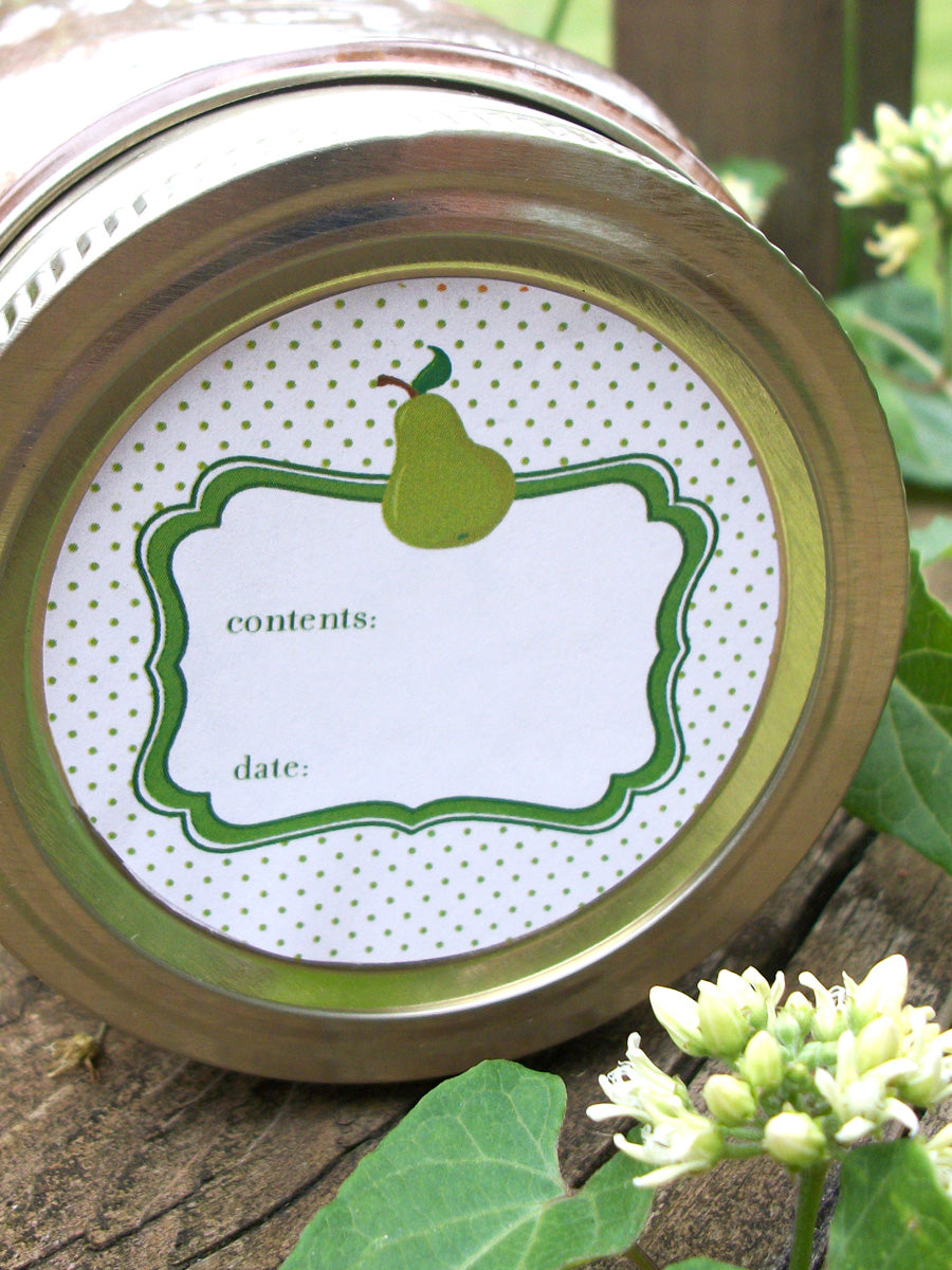 Pear Jelly Canning Labels | CanningCrafts.com