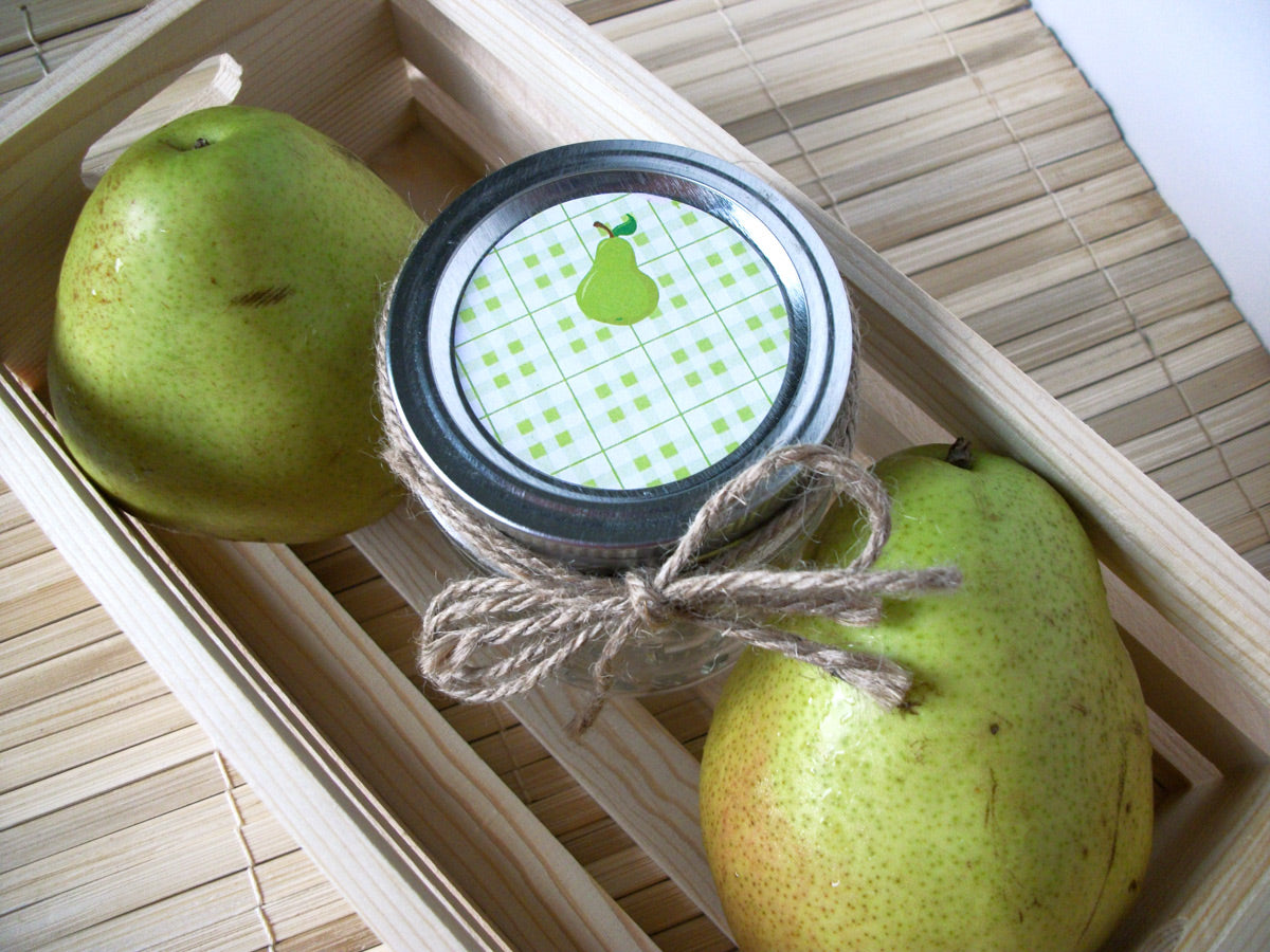Plaid Pear Mason Canning Jar Labels | CanningCrafts.com
