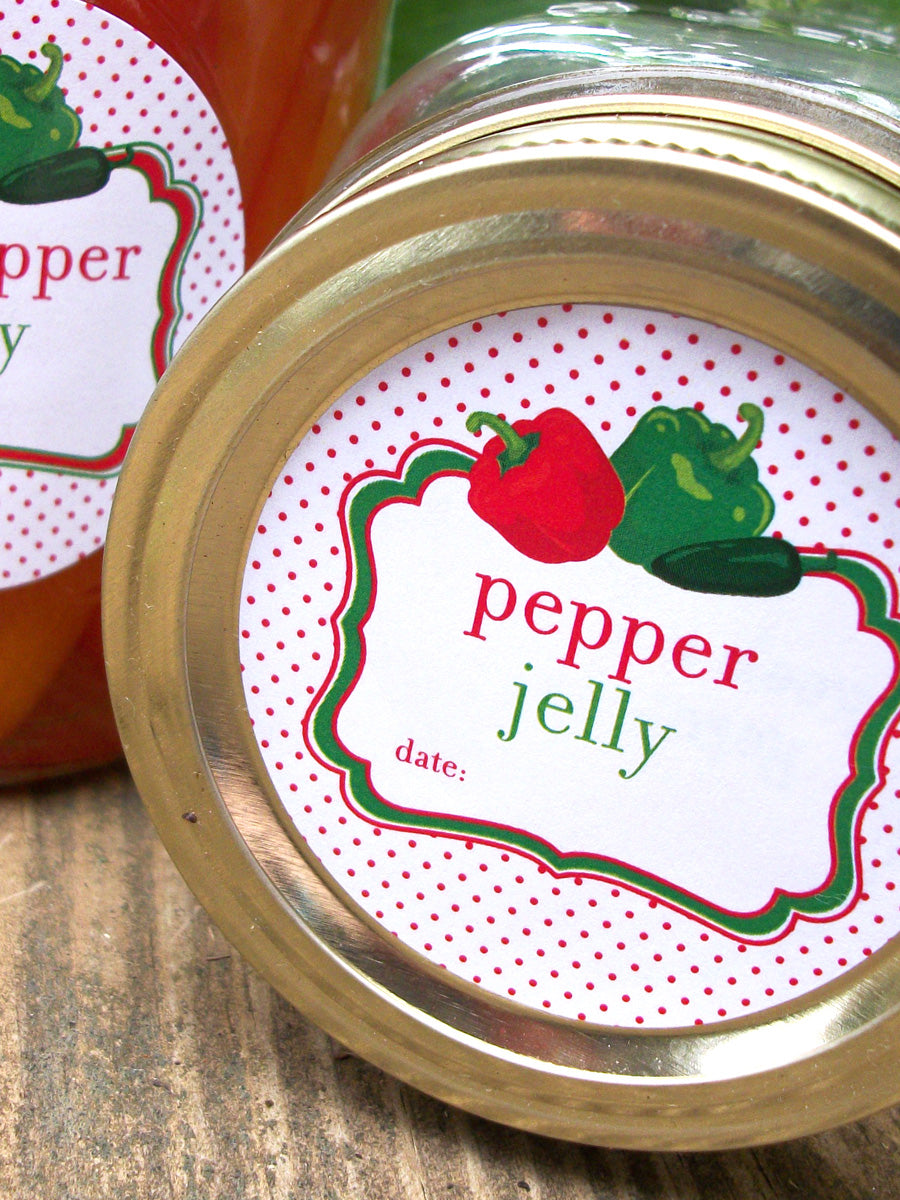 Pepper Jelly Mason Jar Labels | CanningCrafts.comm