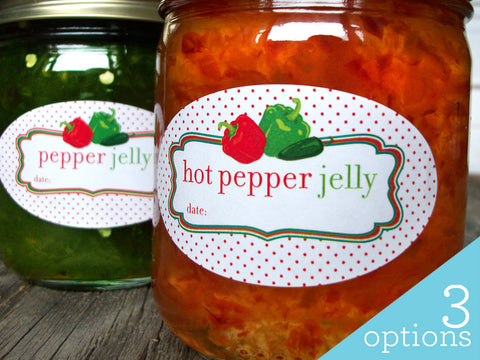Oval Hot Pepper Jelly Canning Jar Labels | CanningCrafts.com