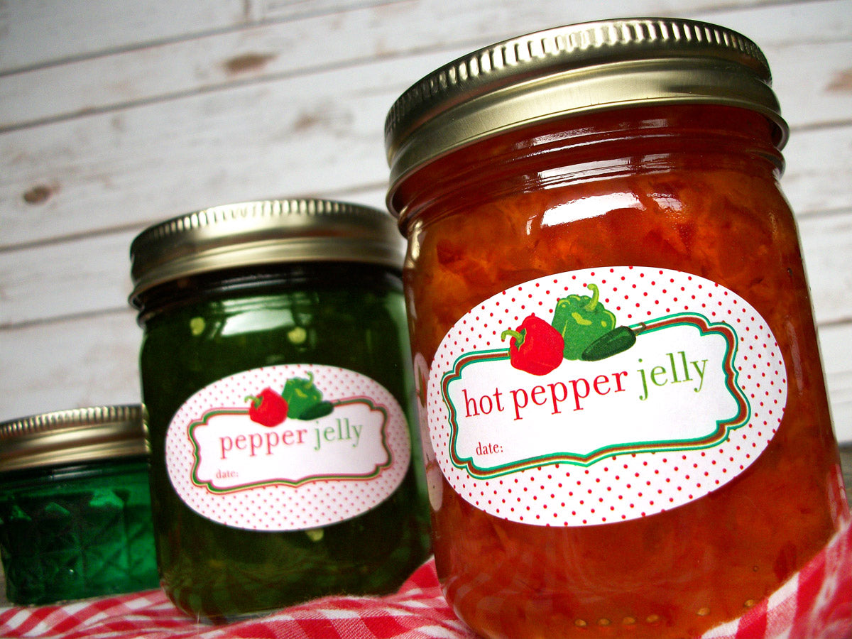 Oval Hot Pepper Jelly Mason Canning Jar Labels | CanningCrafts.com
