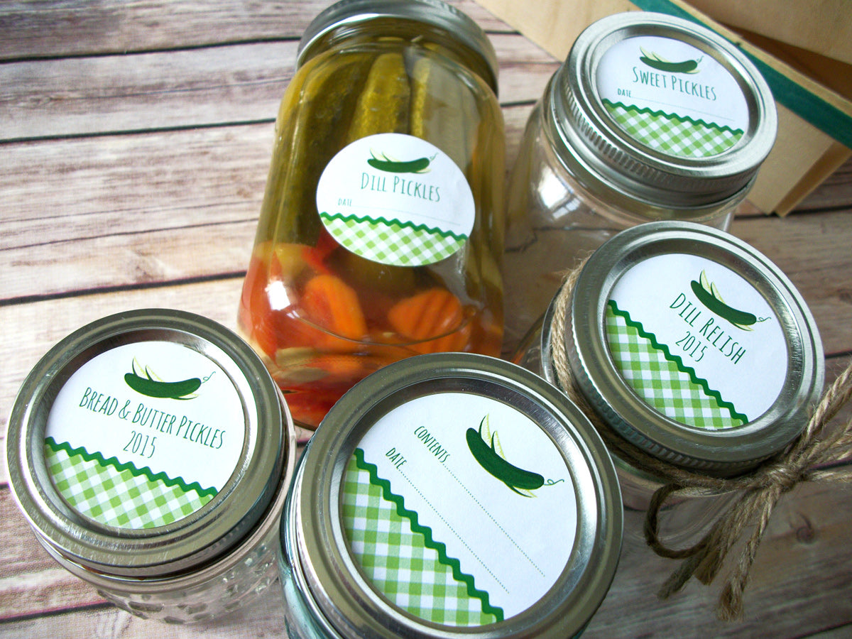 Pickle Canning Jar Labels | CanningCrafts.com