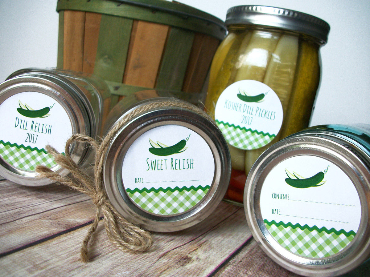 Dill & Sweet Pickle Canning Labels | CanningCrafts.com