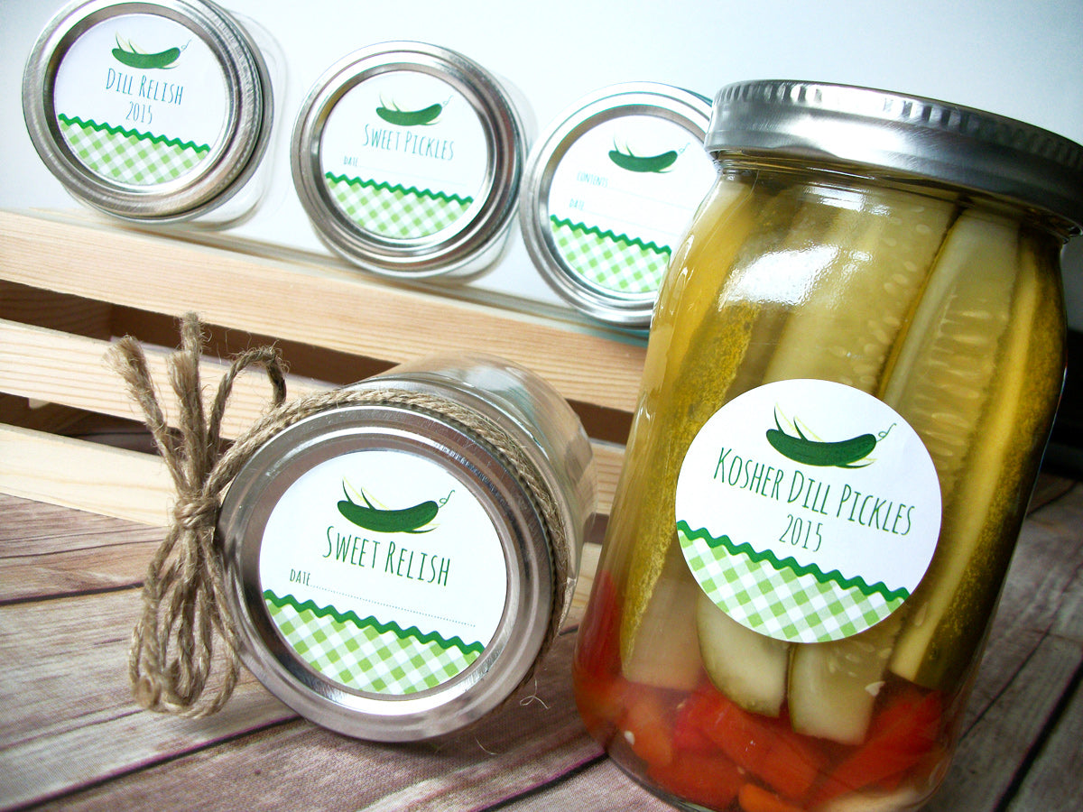 Dill & Sweet Pickle Canning Jar Labels | CanningCrafts.com