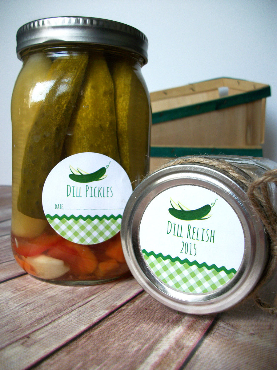 Pickle & Relish Canning Jar Labels | CanningCrafts.com