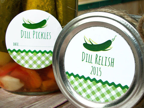 Dill Pickle & Relish Canning Jar Labels | CanningCrafts.com