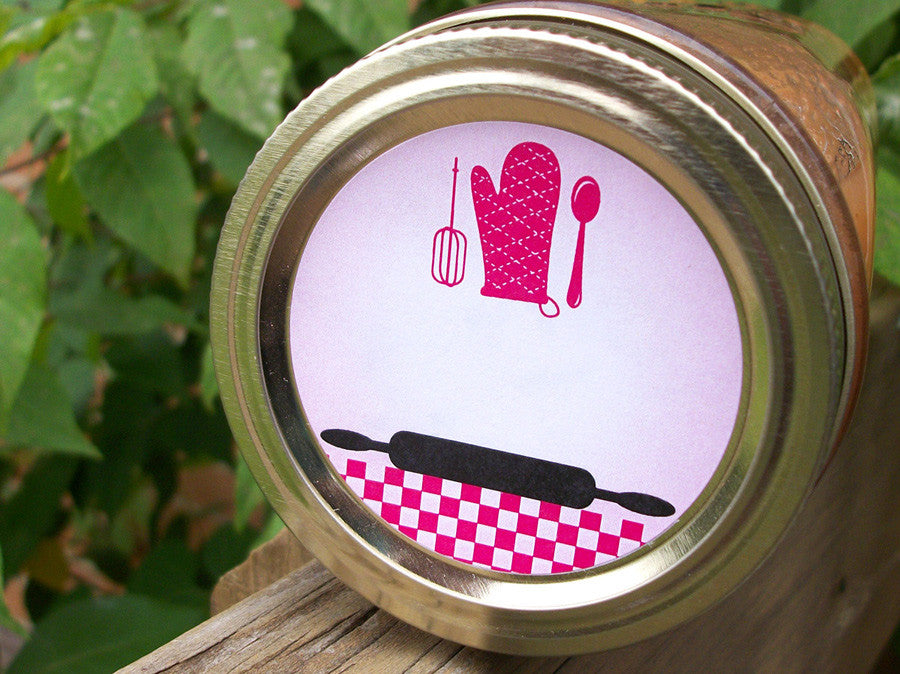 Hot Pink & Black Kitchen Labels | CanningCrafts.com