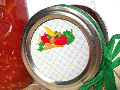 Vegetable Canning Labels