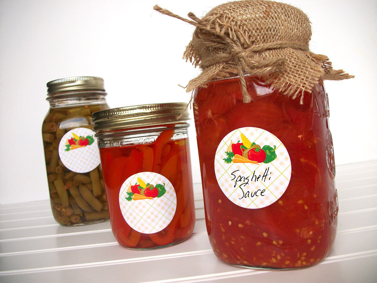 Vegetable Mason Jar Labels | CanningCrafts.com