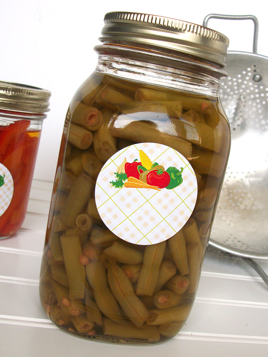 Vegetable Mason Canning Jar Labels | CanningCrafts.com