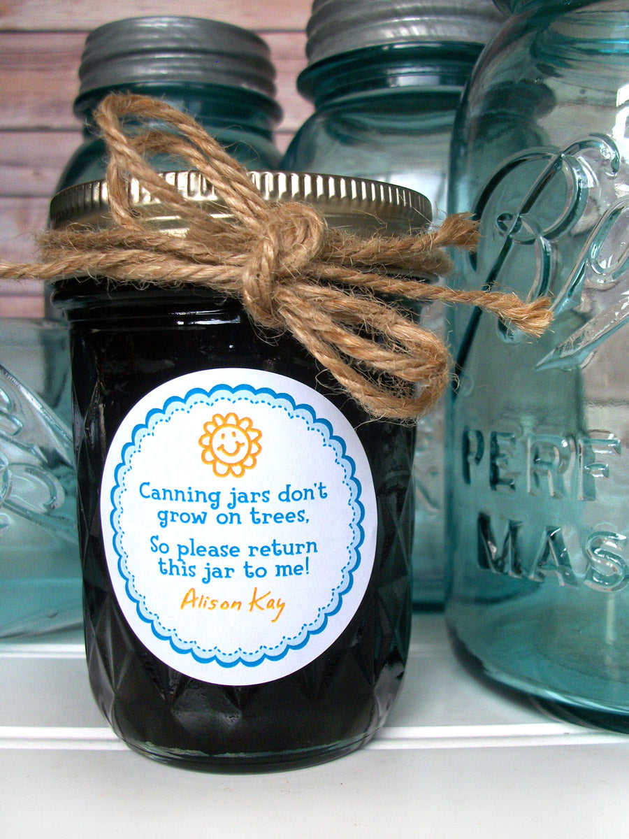 Custom return jar poem canning labels | CanningCrafts.com