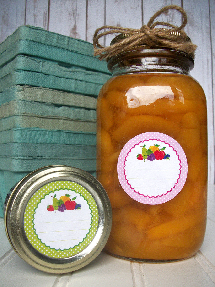 Polka Dot Fruit Jam Jar Labels | CanningCrafts.com
