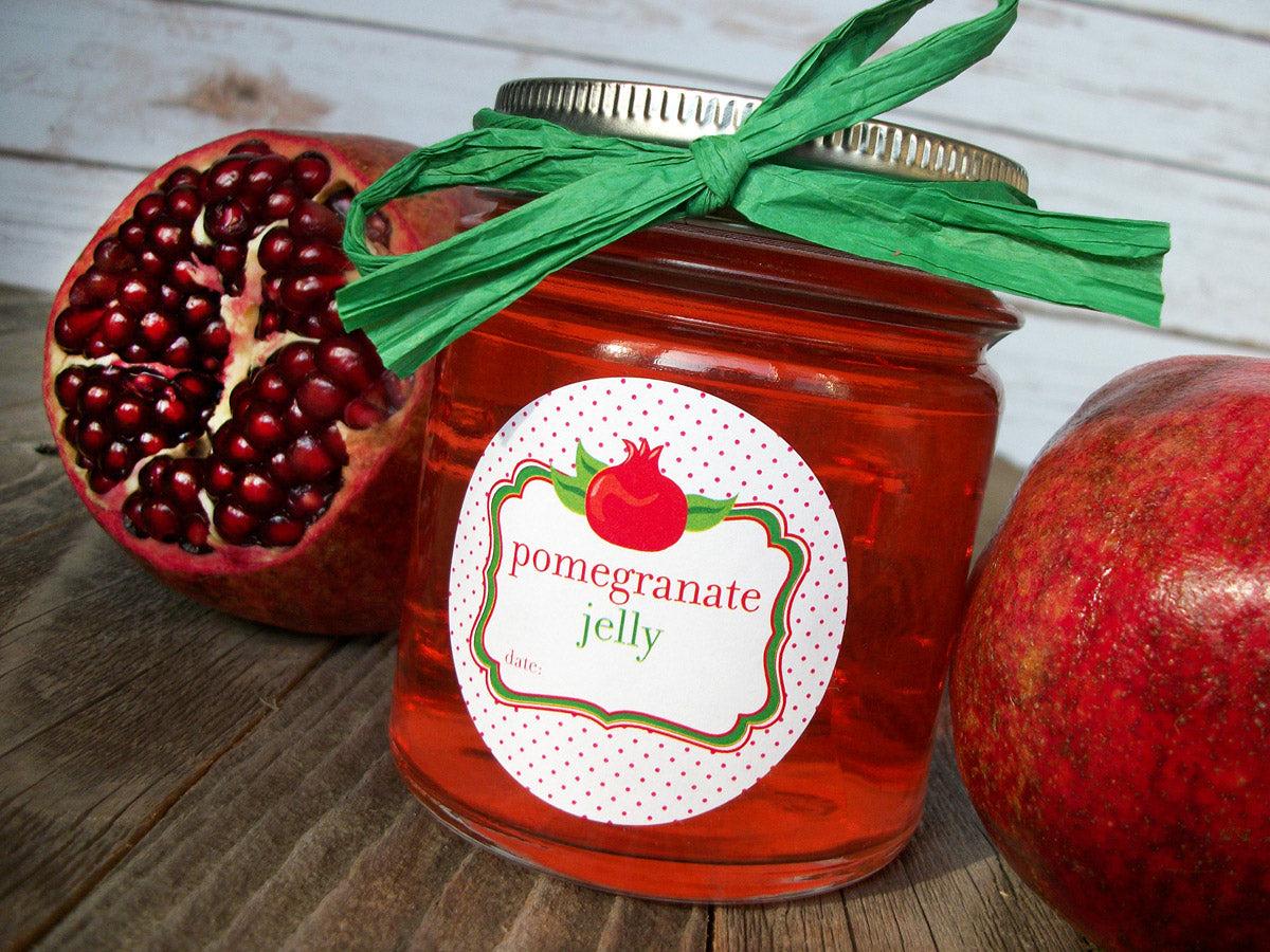 pomegranate jelly jar label | CanningCrafts.com