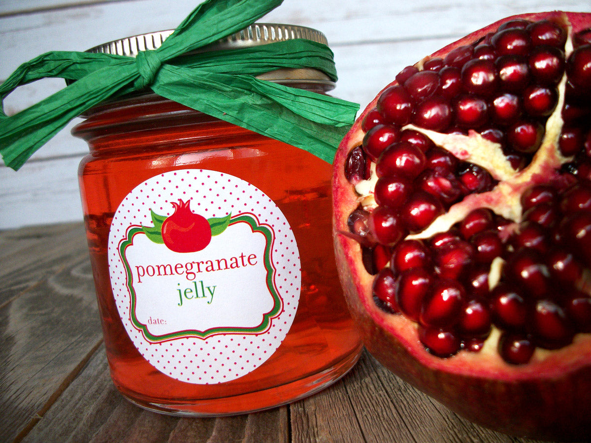 pomegranate jelly mason canning jar label | CanningCrafts.com
