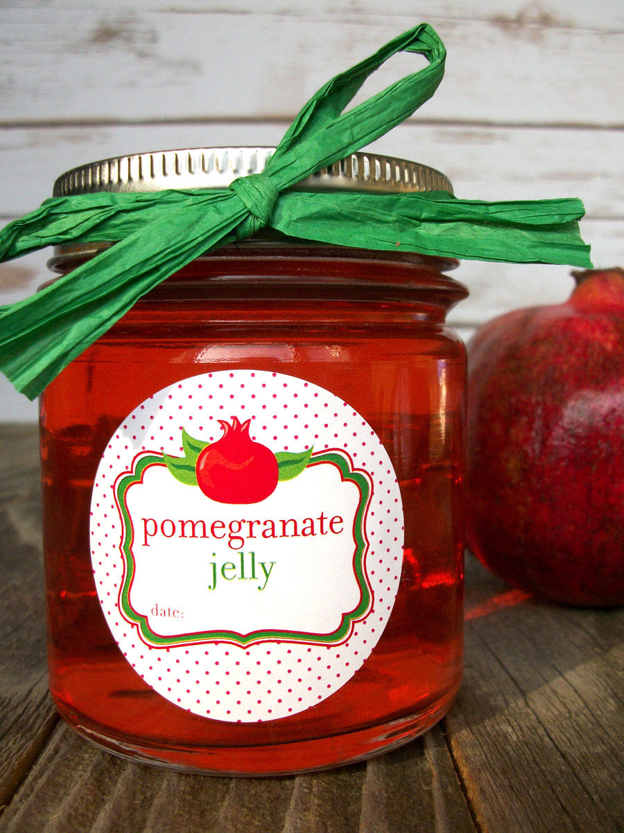 pomegranate jelly canning jar label | CanningCrafts.com