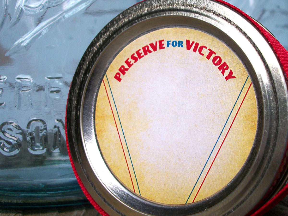 Preserve for Victory Patriotic mason jar labels | CanningCrafts.com