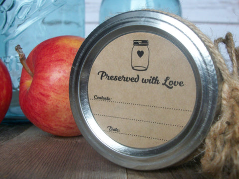 Kraft Preserved with Love Canning Labels | CanningCrafts.com
