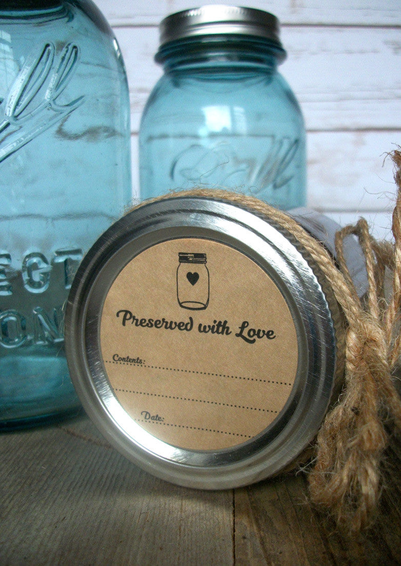 Kraft Paper Preserved with Love Canning Labels | CanningCrafts.com