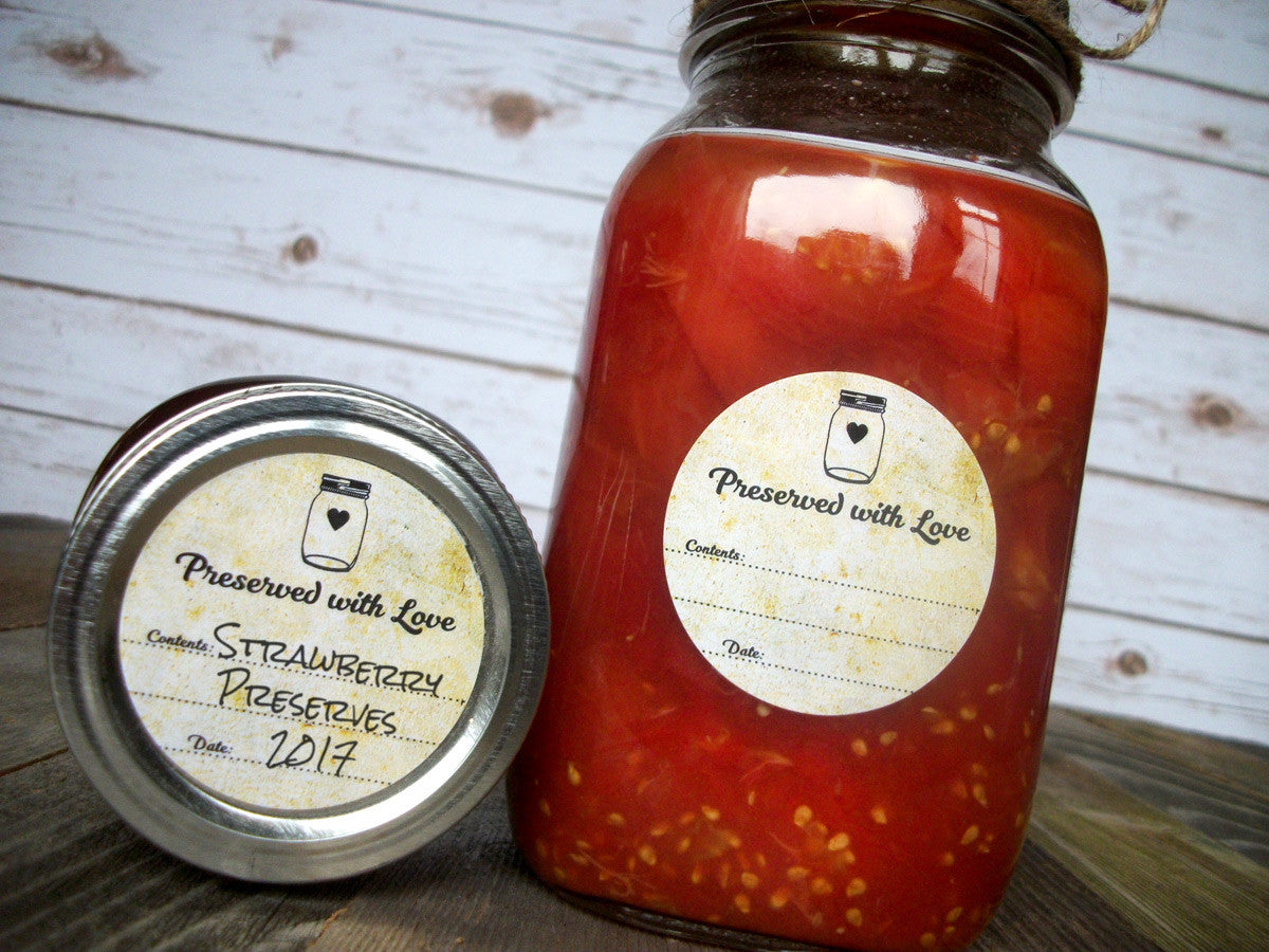 Vintage Preserved with Love Canning Labels | CanningCrafts.com